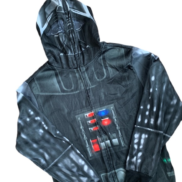 Vintage Star Wars Darth Vader Hoodie Zip Up Sz S